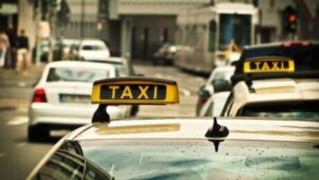 Taxi en Downtown Los Angeles
