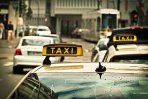 Taxi en Downtown Los Angeles